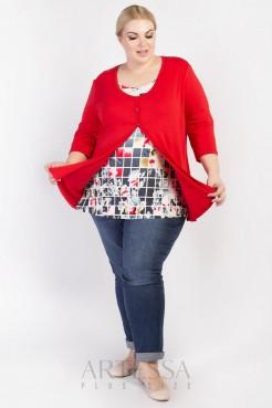 Блузка BL02603SQU25 красный