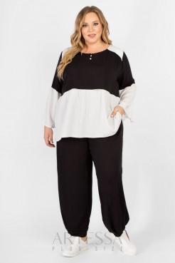 Блузка BL61004PEA02 (черно/белый)