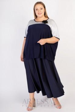 Блузка FU09707DBL05 синий