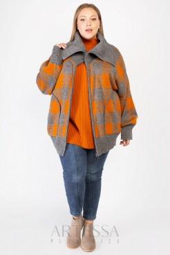 Жакет GA06028GEO54 клетка/оранжевый