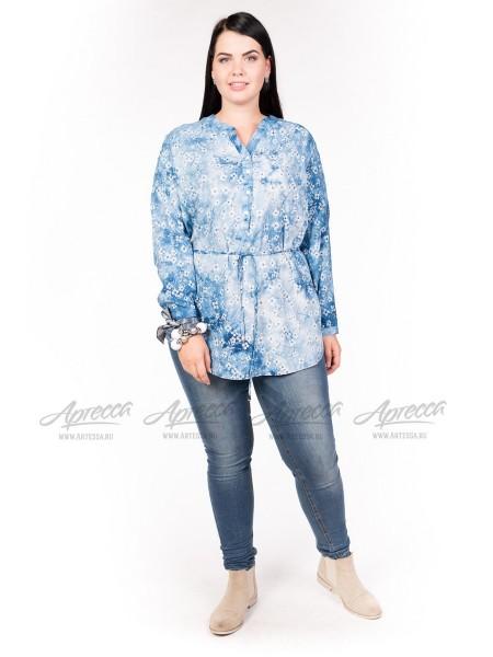 Блузка BL05304LBL02 голубой