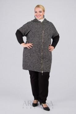 Пальто PL10121MEL01 серый меланж