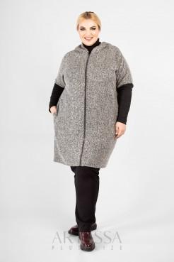 Пальто  PL10123GRY23 серый