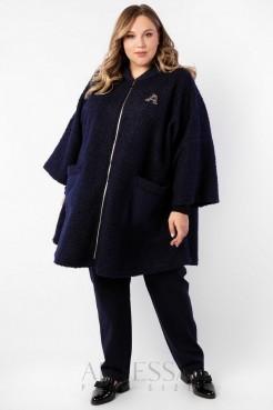 Пальто PL20123DBL05 синий