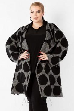 Пальто PL25028PEA23 горох/черный