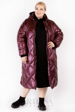 Пальто PL25233RED29 бордо
