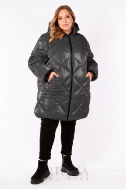 Пальто PL25333GRY23 серый