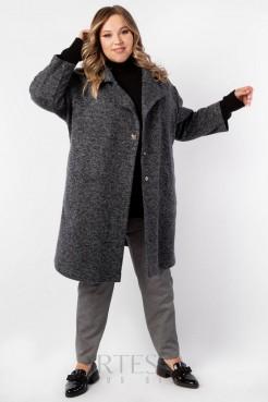 Пальто PL40022MEL06 темно серый