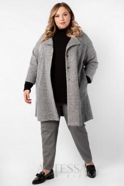 Пальто PL40022MEL23 серый