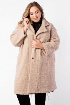 Пальто PL40023BEG17 бежевый