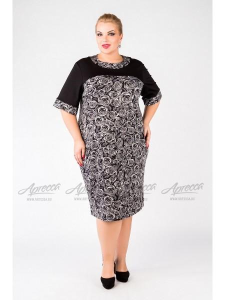 Платье PP01906BLK23 (черный/белый)