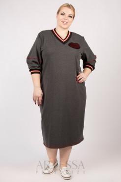 Платье PP12302GRY22 серый