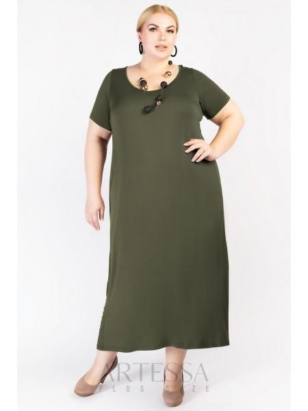Платье PP21803GRN30 хаки