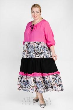 Платье PP55704MLC15 розовый