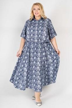 Платье PP60004LIS05 синий/листья