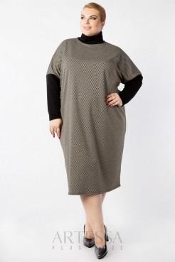 Платье PP63108ORN01 темно серый