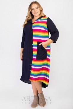 Платье PP65604STC05 синий