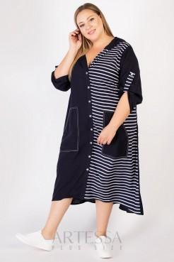 Платье PP65604STR05 синий