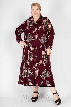Платье PP71804FEA28  бордовый