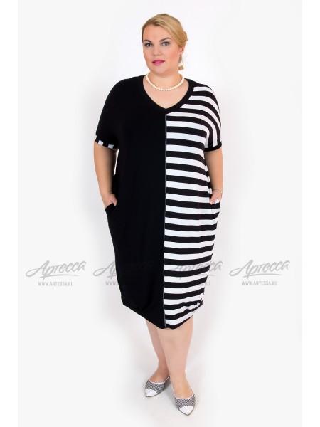 Платье SV219.10 черно/белый