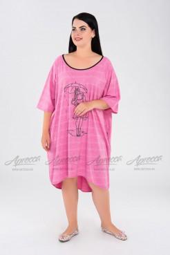 Туника TU00902RED01 ярко-розовый
