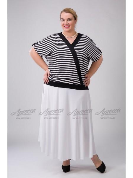Блузка BL03803STR01 черно/белый