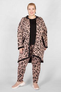 Брюки BB04521LEO37 пудровый леопард