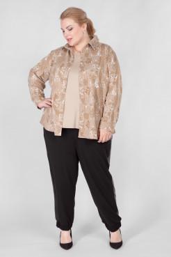 Блузка BL30208ORN16 бежевый орнамент
