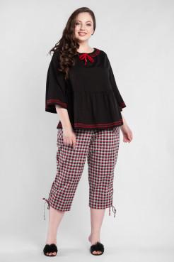Блузка BL55601BLK01 черный/красный