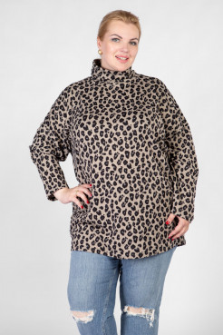 Джемпер DG44908LEO16 бежевый-леопард