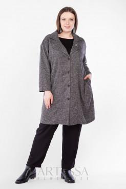 Пальто PL40522MEL01 темно серый