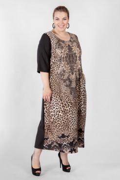 Платье PP01006LES01 черный/принт
