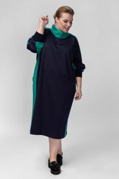 Платье PP08006DBZ05 синий/бирюза