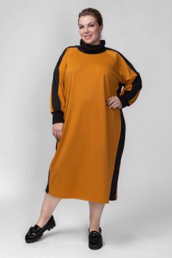 Платье PP08006YLS51 горчица