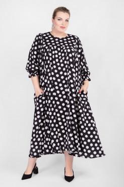 Платье PP20904PEA01 (черный/горох)