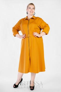 Платье PP38206YLW51 горчица