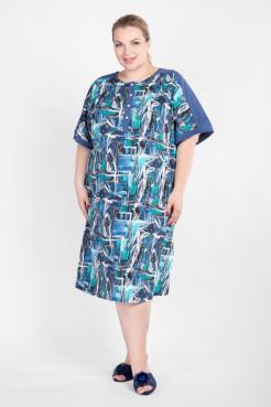 Платье PP50001GRA13 голубой абстракция