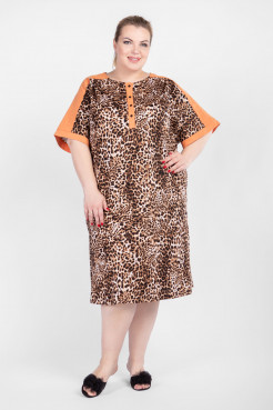 Платье PP50001LEO16 бежевый леопард