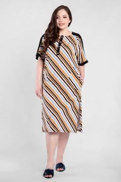 Платье PP50001MLC16 бежевый полоска
