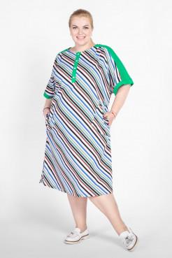 Платье PP50001MLC44 зеленый полоска