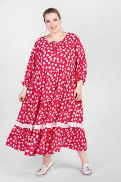Платье PP55704ROM26 (малиновый/цветы)