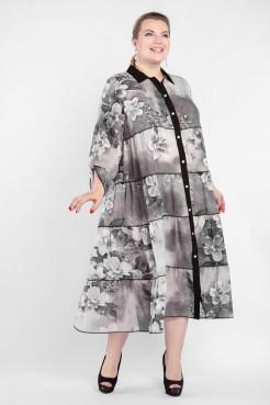 Платье PP56104FLW23 серый/цветы
