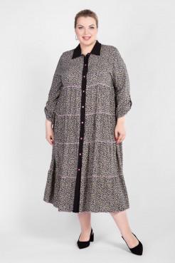 Платье PP56104FON01 черный/цветы
