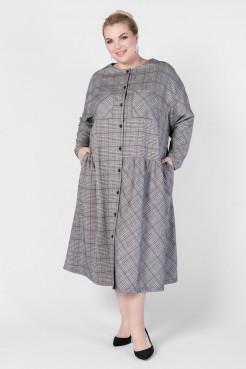 Платье PP73008SQU24 светло-серый клетка