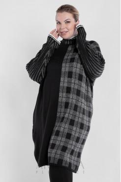 Платье PP90767SQU22 черный/серый