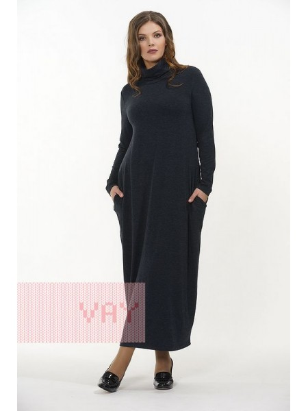 Платье 182-3461 т.синий