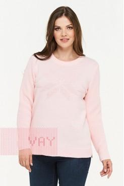 Джемпер 182-4740 жемчужно-розовый