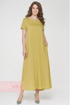 Платье 191-3486 цейлонский желтый