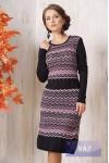Платье 2105 черный/т.маренго/камелия/опал
