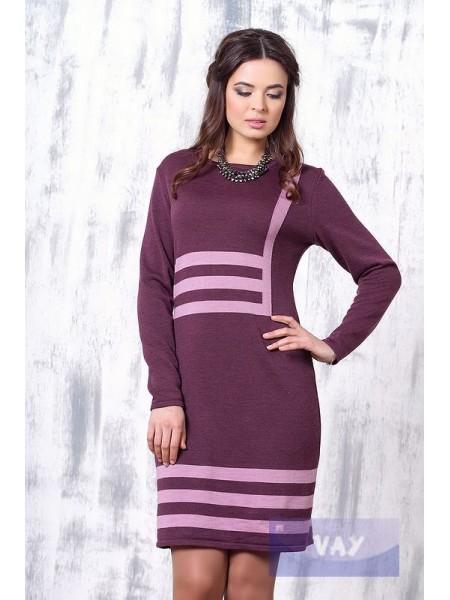 Платье 2161 слива/камелия